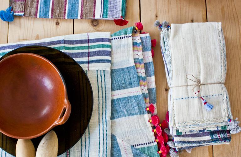 Injiri home textiles, designed and handmade in India.