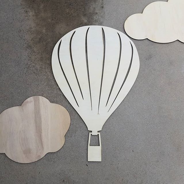 Wow! Can't believe that it's been a month since we last posted! So sorry that we've been MIA! We've been doing tons of laser cutting and engraving! Like these fun clouds and hot air balloon! #laserworkzco #lasercutting #lasercutout #lasercutwood #eventplanning