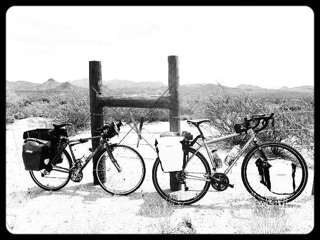 Our bikes, fully loaded
