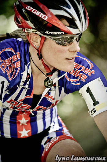 Pro Cyclist Katie Compton, all decked out in her Planet Bikekit