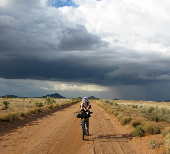 Ride the Divide: A shot of Mary Metcalf competing in Tour Divide