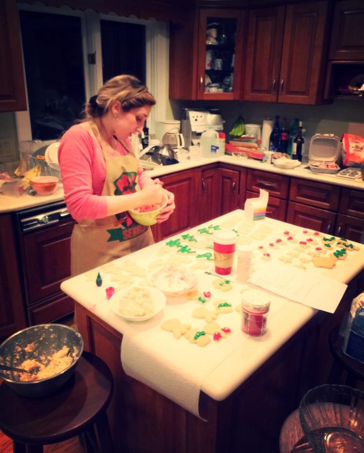 Chef Amelia hard at work