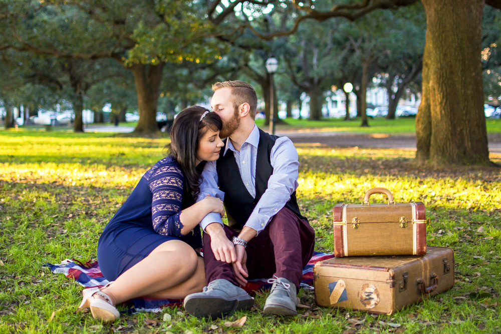 Vintage Engagement Session Charleston
