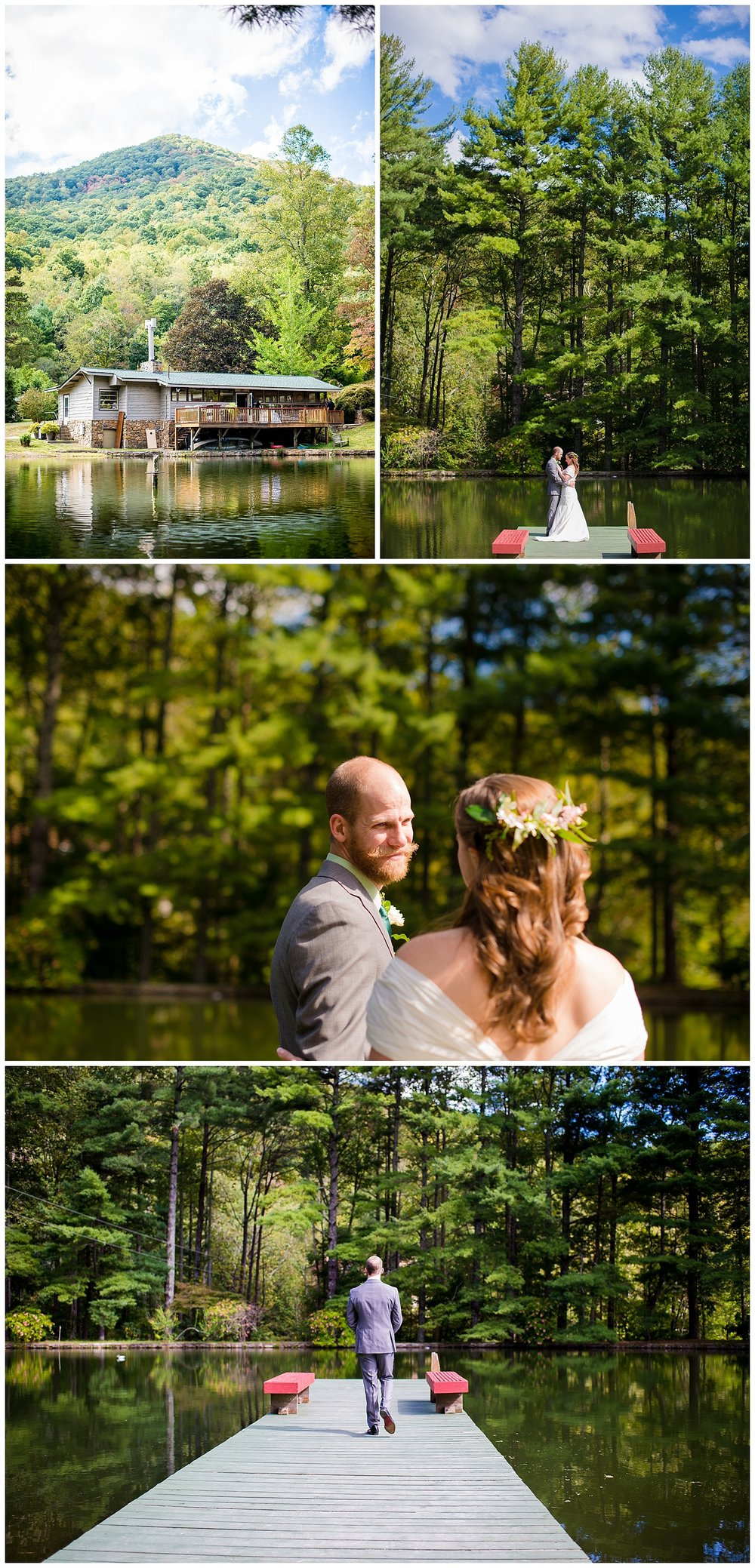 Bride-Groom-First-Look-Fall-Wedding-Blue-Ridge-Mountains-Asheville-North-Carolina