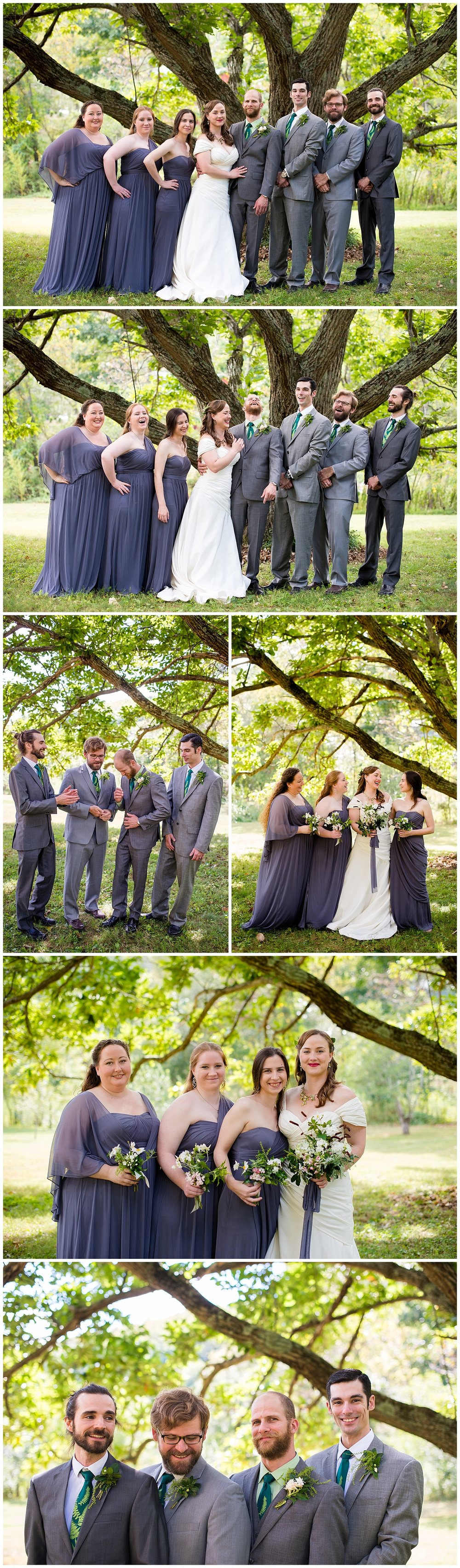 October-Earthy-Bohemian-Bridal-Party-Photos-Mismatched-Bridesmaids-Casual-Groomsmen-Bride-Groom