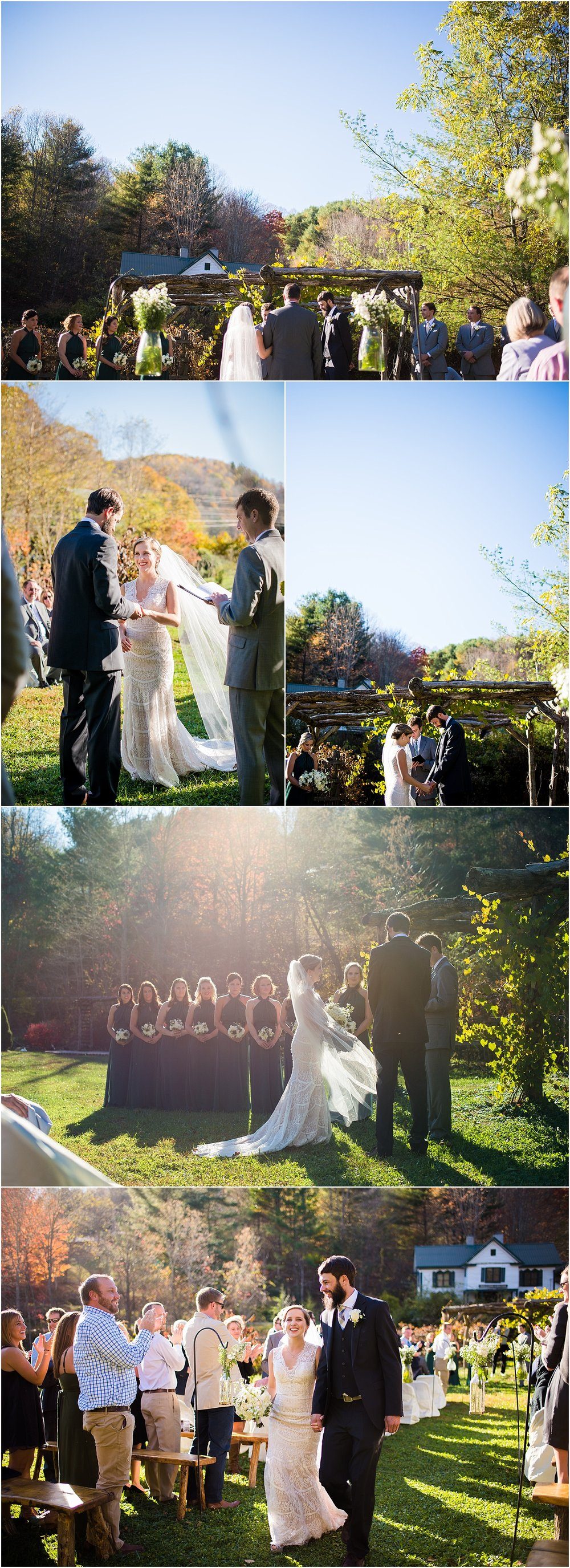 Earthy-Outdoor-Rustic-Afternoon-Ceremony-Blue-Ridge-Mountains-Asheville-North-Carolina-Memory-Mountain-At-Wolf-Laurel