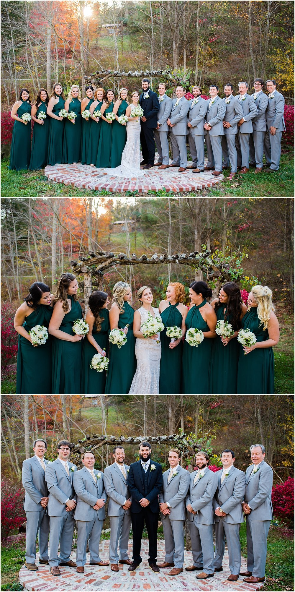 Outdoorsy-Earthy-Fall-Wedding-Party-Blue-Ridge-Mountains-North-Carolina-Destination-Wedding-Bridesmaids-Groomsmen