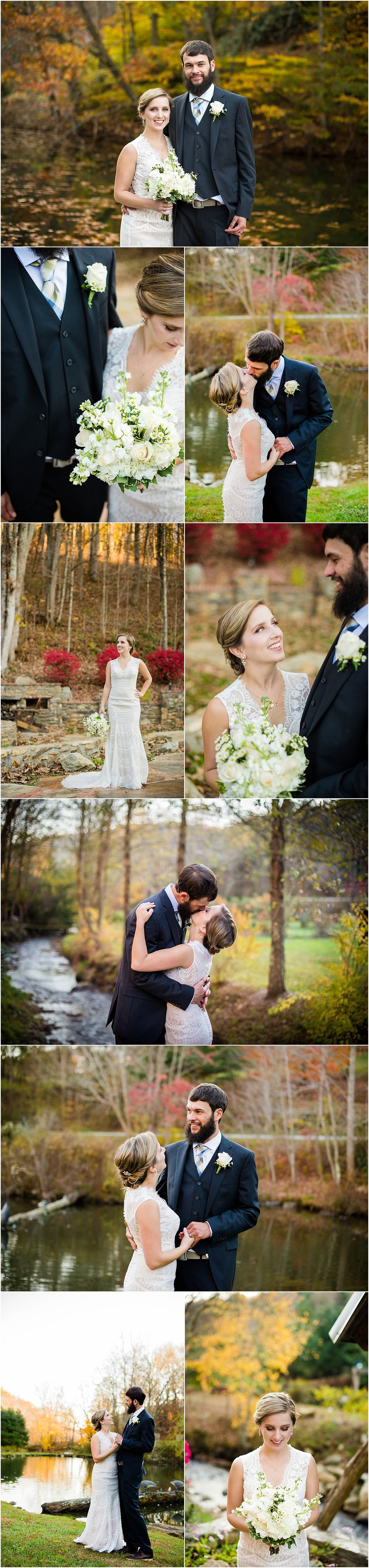 Bohemian-Earthy-Bride-Groom-Portraits-Fall-October-Wedding-Photos-Memory-Mountain-at-Wolf-Laurel