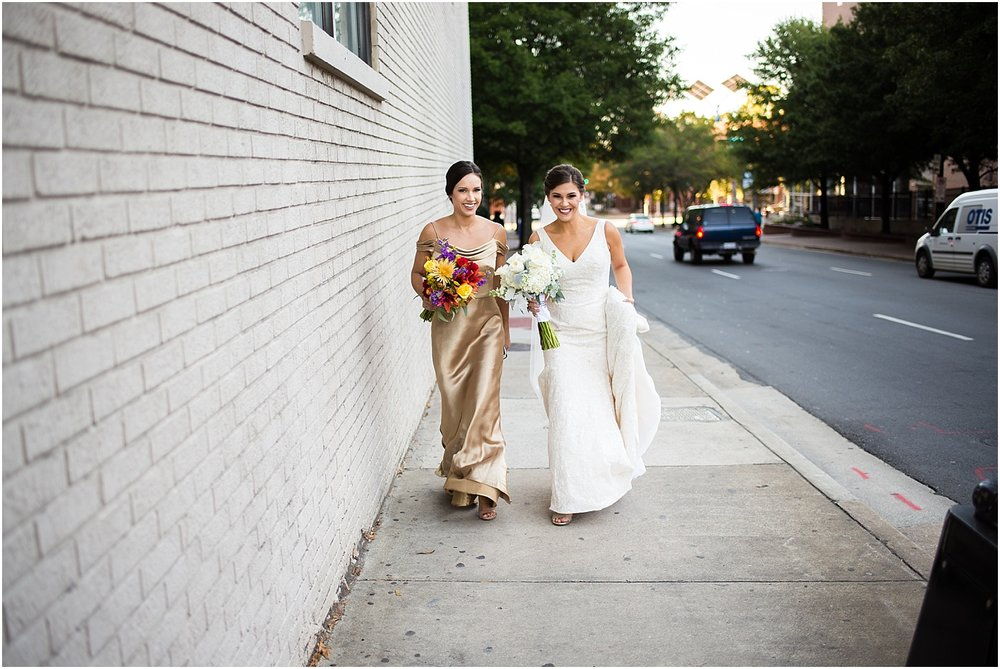 Bride_Maid_of_Honor_Urban_Gold_Dress_Charlotte_North_Carolina_Dunhill_Hotel