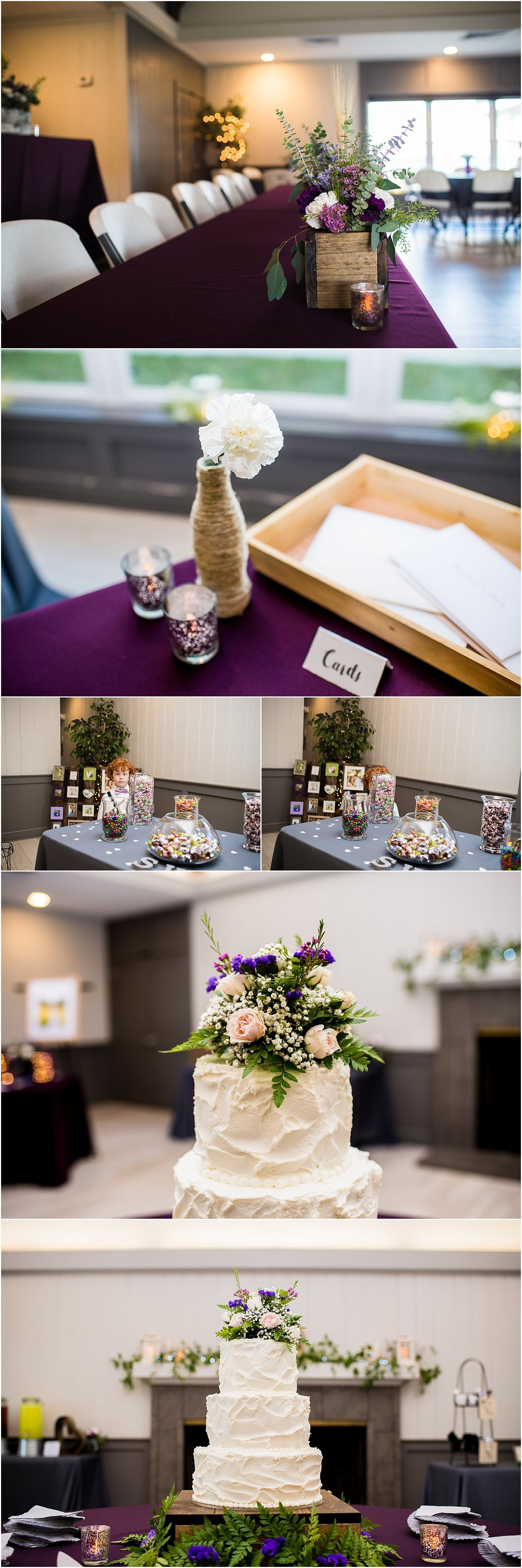 DIY_Purple_Earthy_Reception_Country_Club_Pinopolis_SC_Winter_Cake
