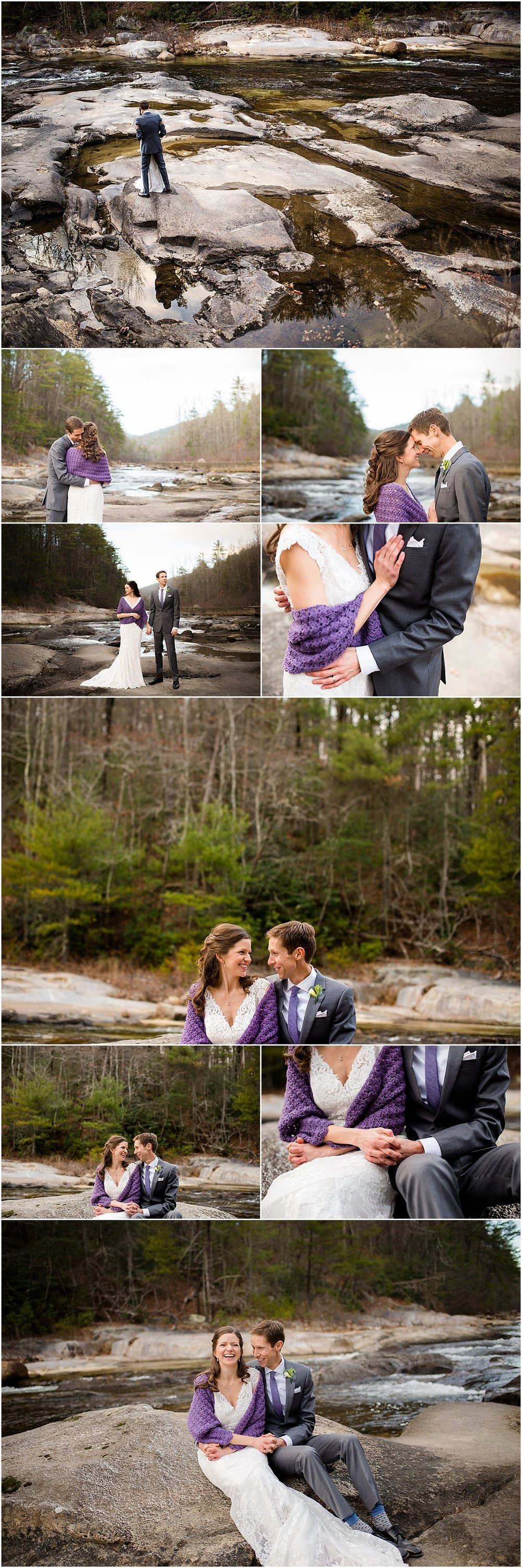 Bride-and-Groom-Wedding-Photos-Blue-Ridge-Mountains-Boone-North-Carolina