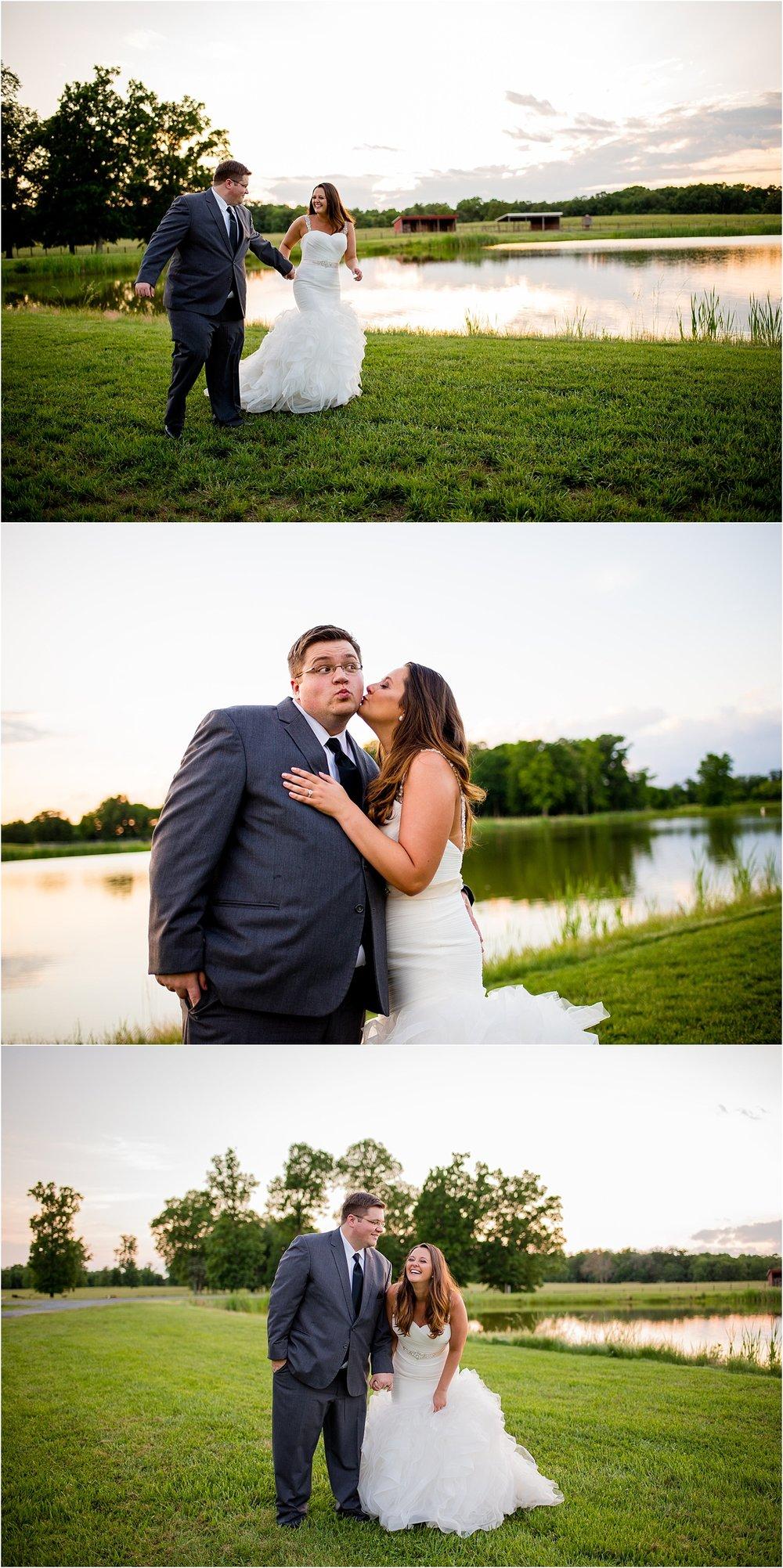 Fun-Outdoor-Golden-Hour-Bride-Groom-Portraits-Brittany-Josh-Farm-At-Busharbor-Spring-Wedding