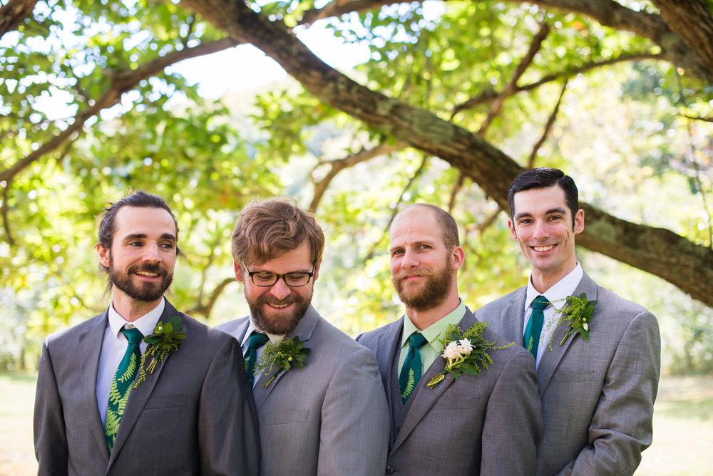Sterling & his groomsmen at Bull Creek Ranch