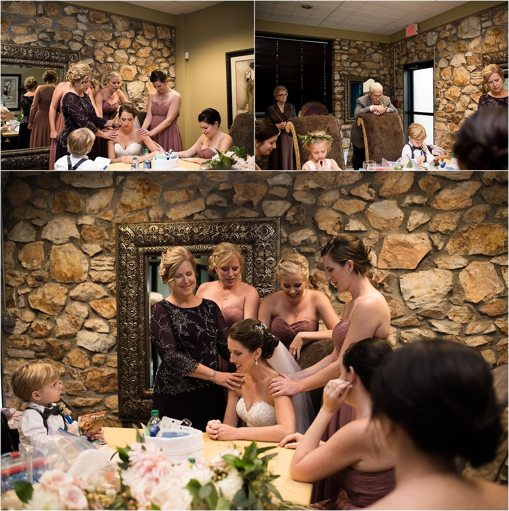 Praying-over-Bride-WNC-Fall-Wedding