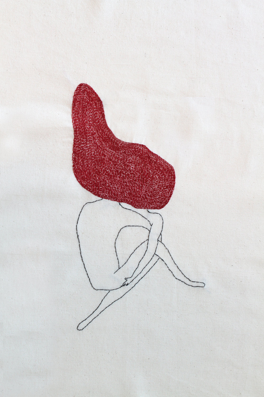 "Sex |Hand sewn on Fabric | 20x24"""
