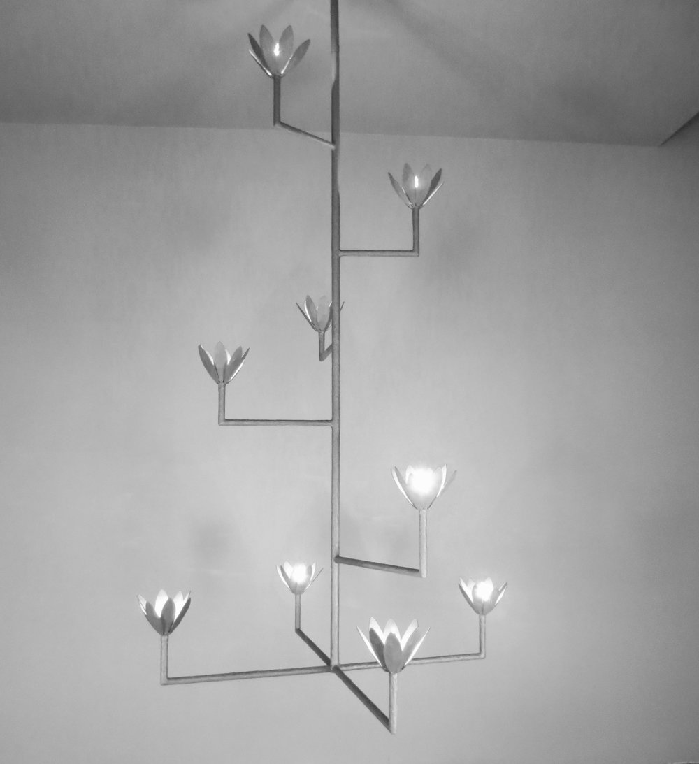 9 Bloom Cross Bar Chandelier