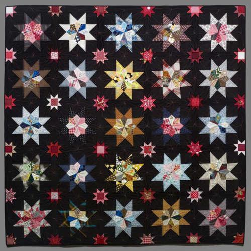 """Grandma's Stars Timna Tarr 2002 82""""x82"""""""