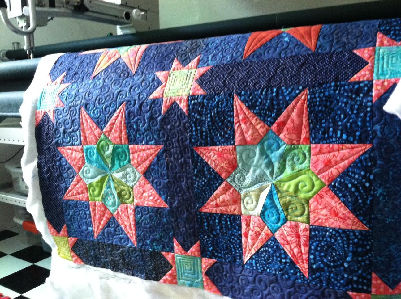 Grandma's Stars, Baby/Wall, quilting Timna Tarr 2012