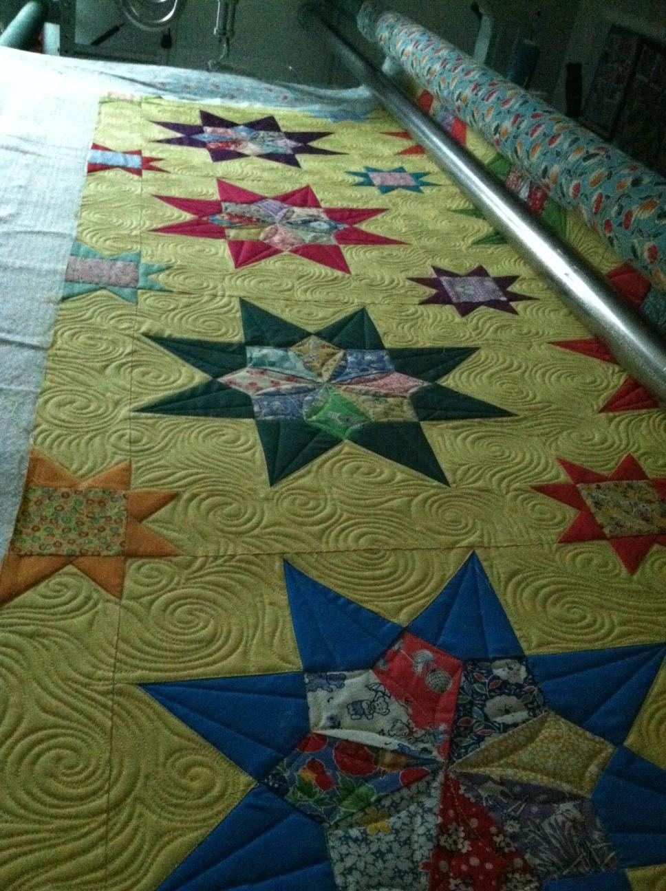 Grandma's Stars Lap, quilting Timna Tarr 2012