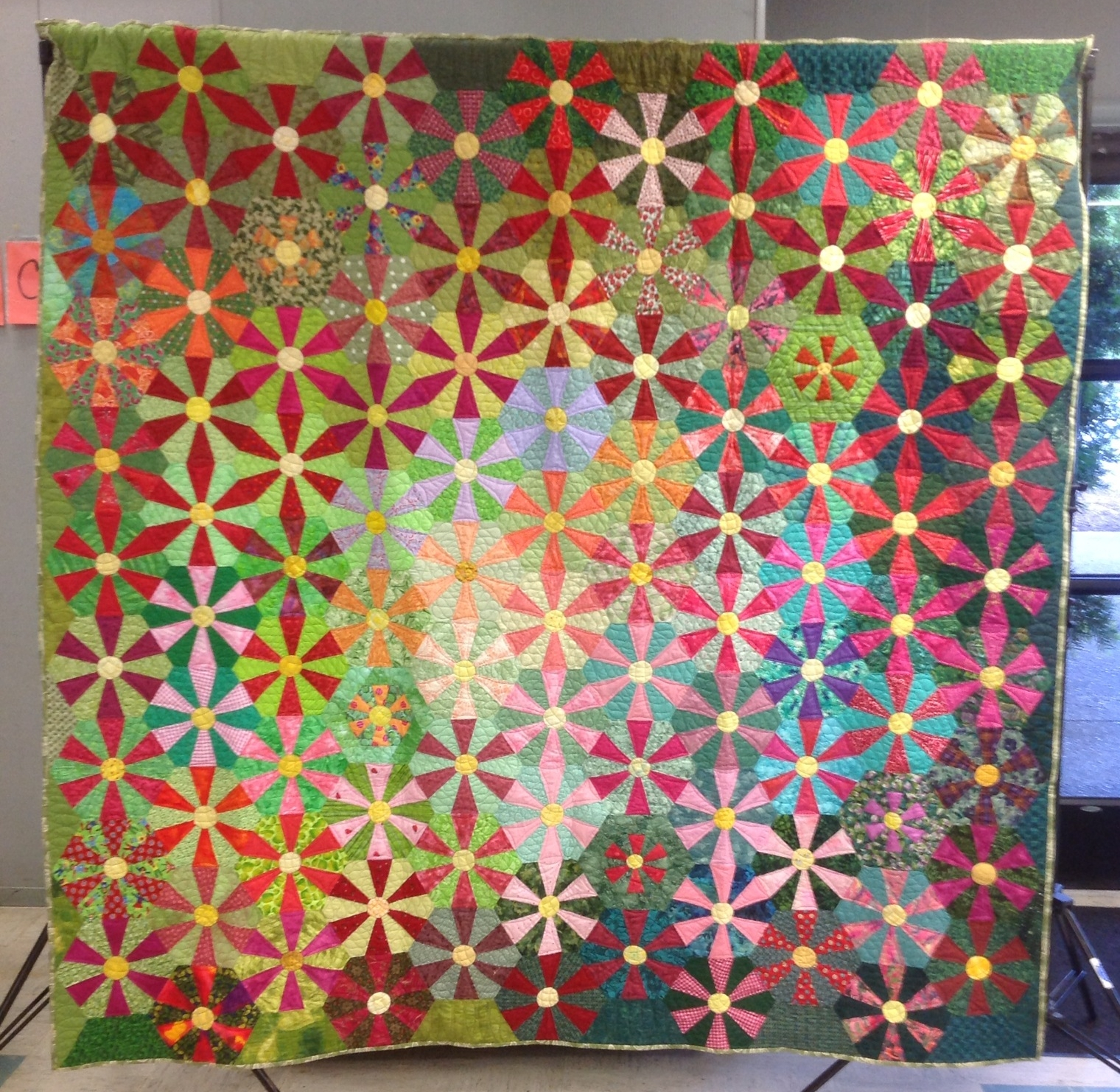 Friendship Flowers Petaluma Quilt Guild's version of Catena 2013