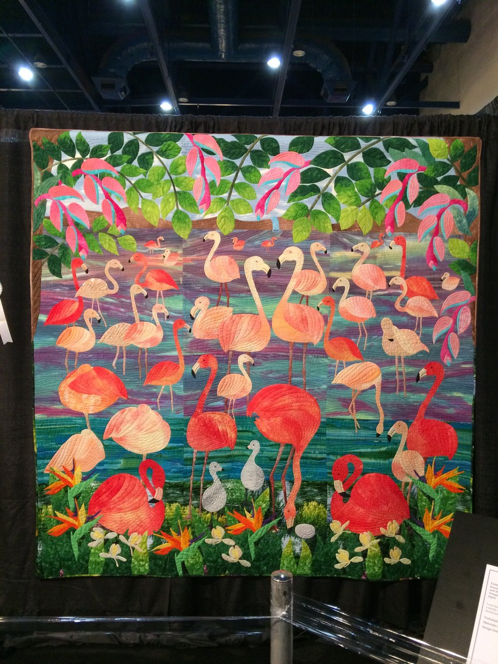 Family of Rainbow-Colored Flamingo  by Kazue Kamura
