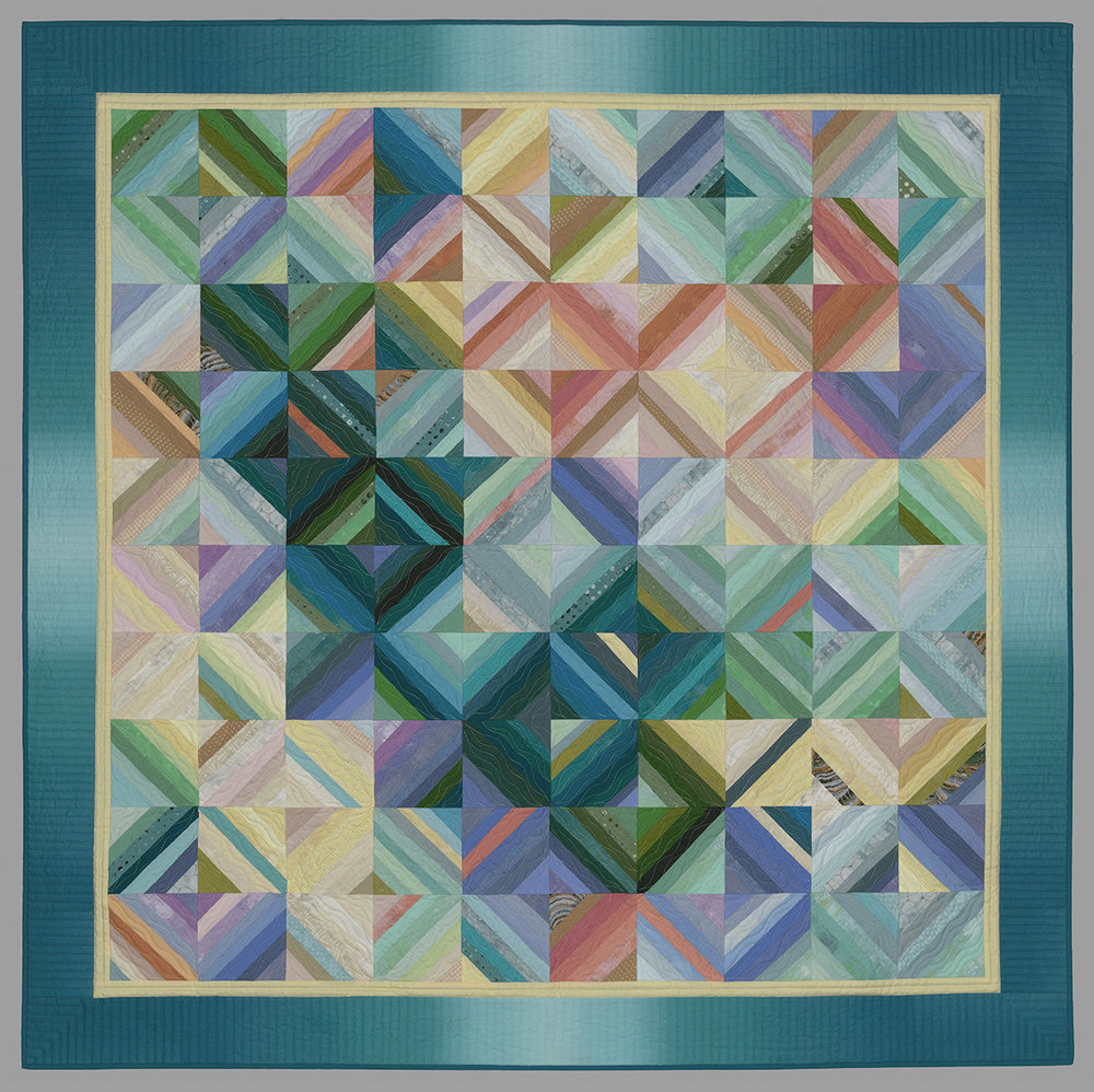 - Strung Along (6 hours)Students will learn the techniques of making a basic string quilt. Through experimentations with color and value, we will modernize the string quilt to create a contemporary piece. Color theory and improvisational techniques will also be discussed throughout the workshop.