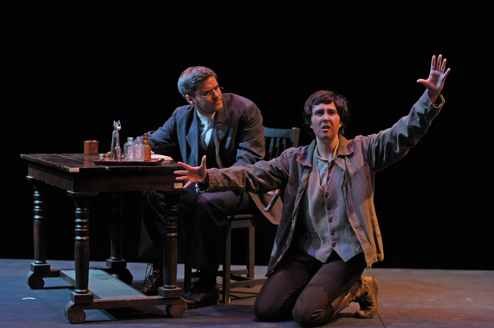 Zachary Wilcox and Maggie Marie Rodgers in  Woyzeck at George Mason University
