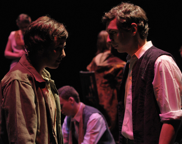 Maggie Marie Rodgers and Eric Schlein in  Woyzeck at George Mason University