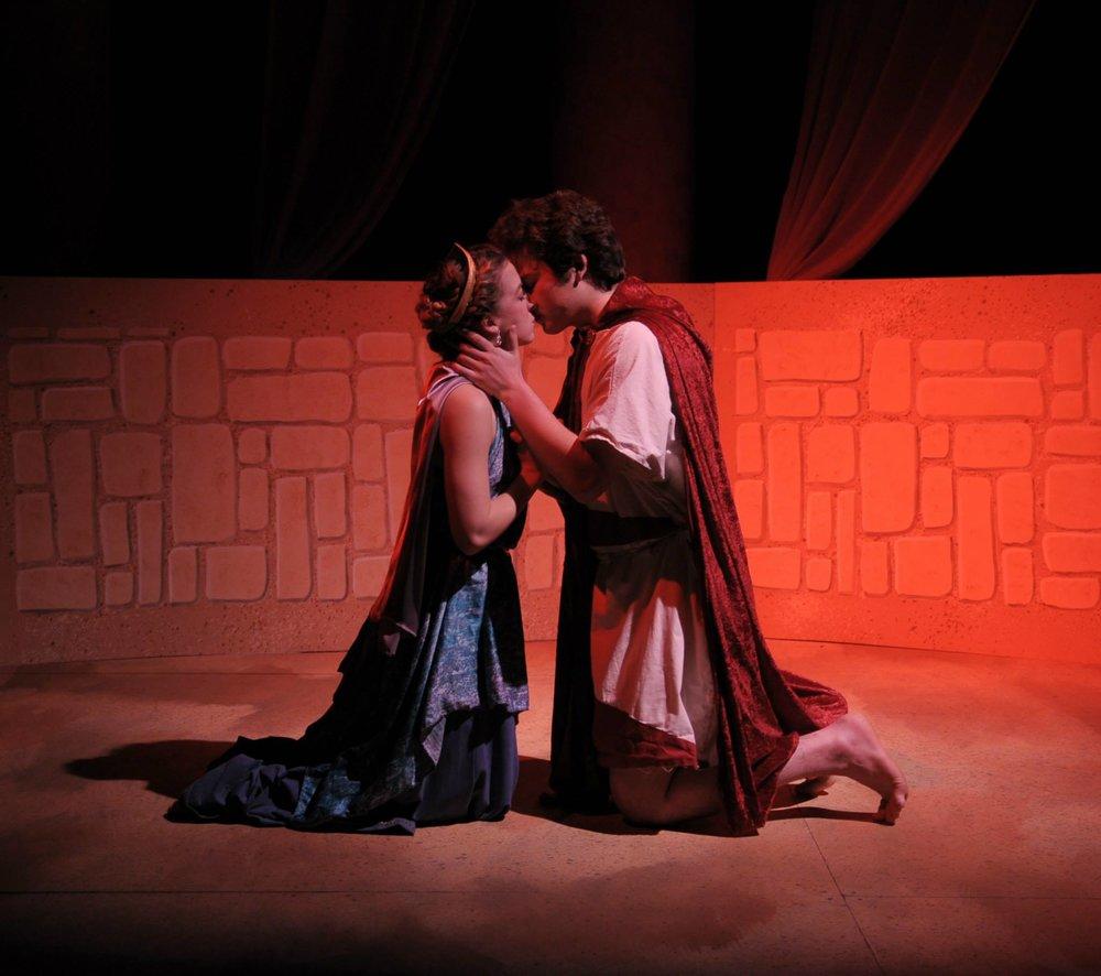 Emily Berry (Dido) and Gabe Zak (Aeneas)