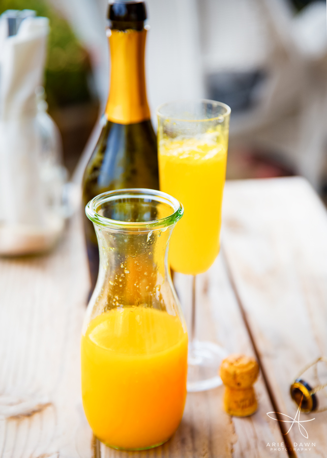 Can't go to a beautiful restaurant without ordering mimosas.
