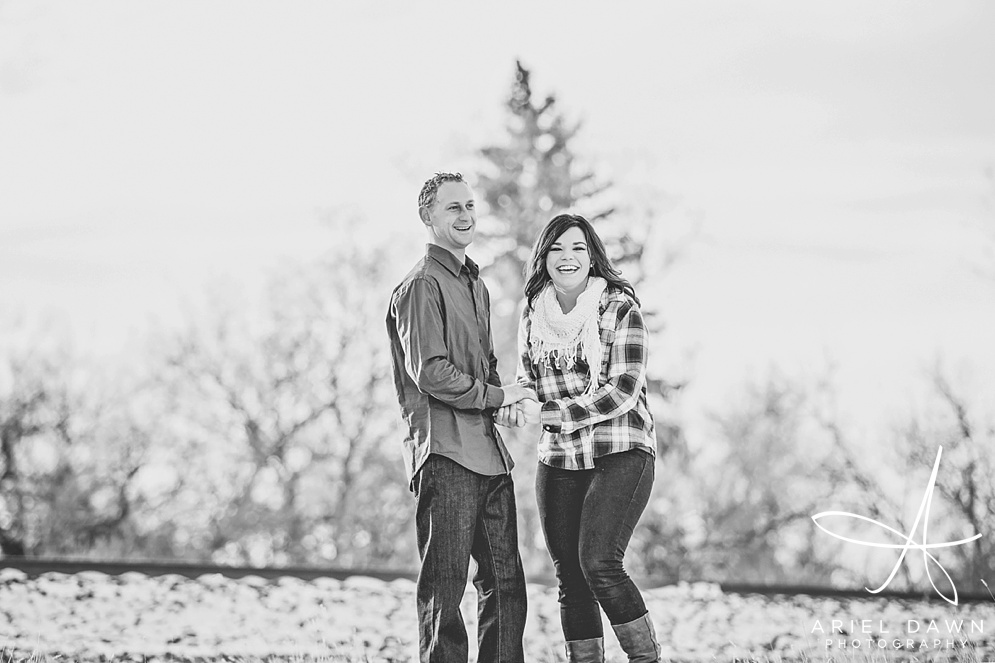 Winter Engagement Session Great Falls, Montana