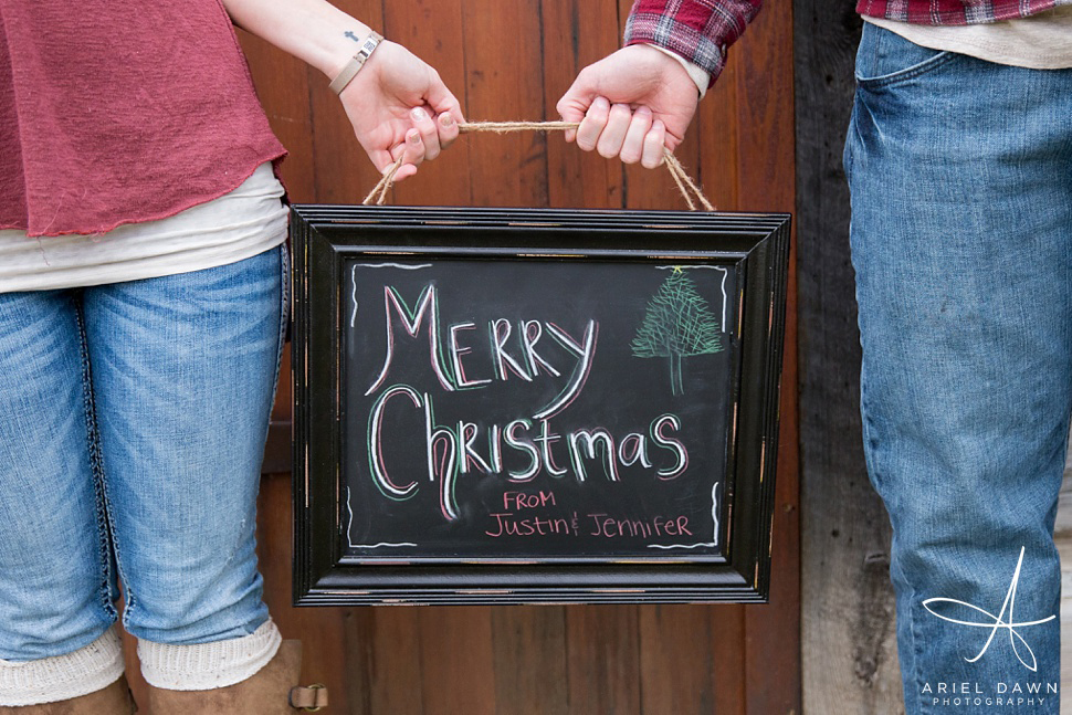 Merry Christmas chalkboard sign!