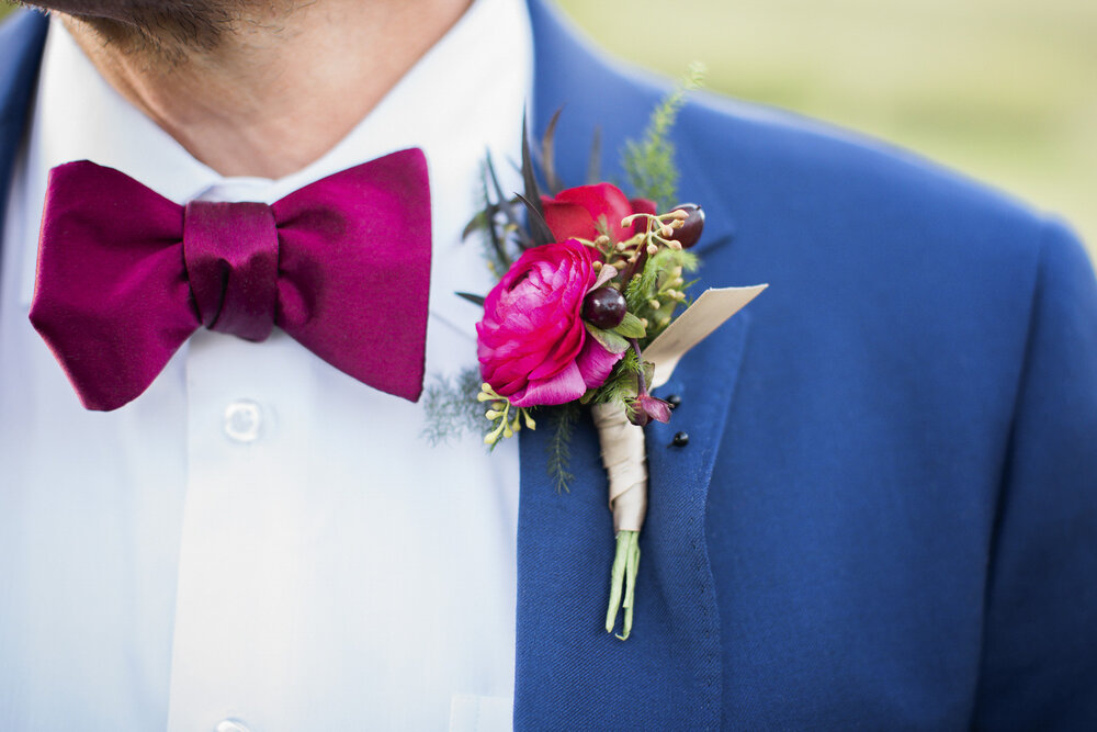 Colorful Groom Attire