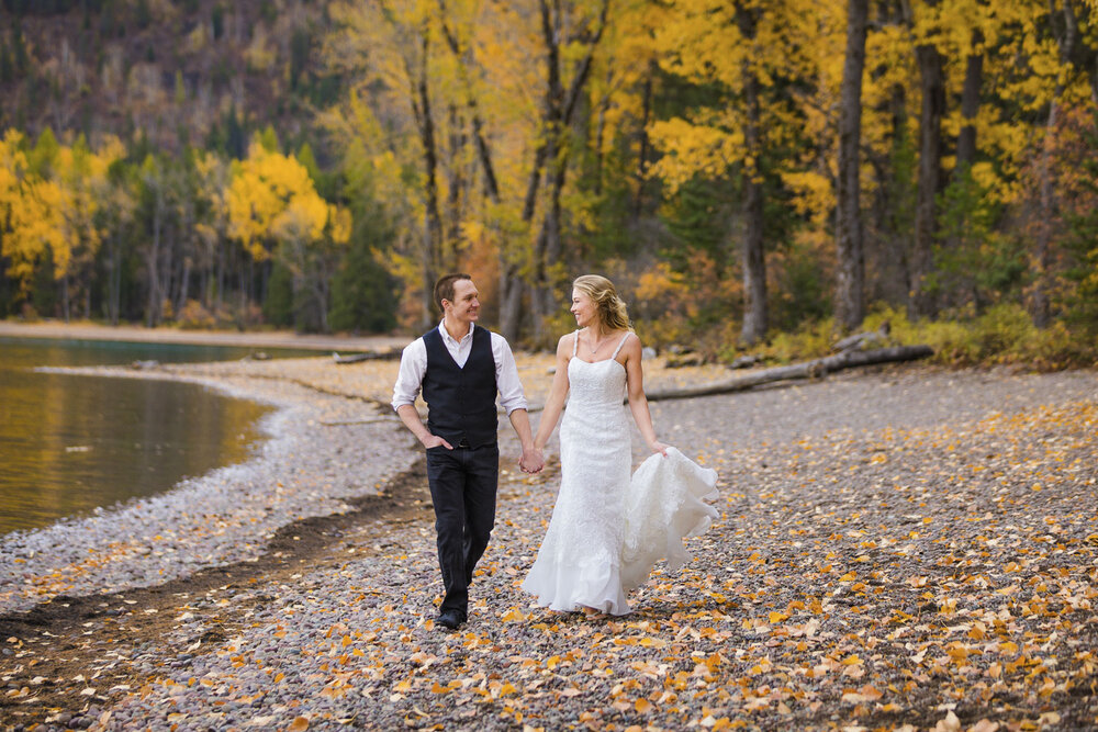 Destination wedding in Glacier National Park