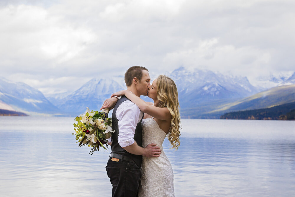 Glacier Bride and Groom Photos