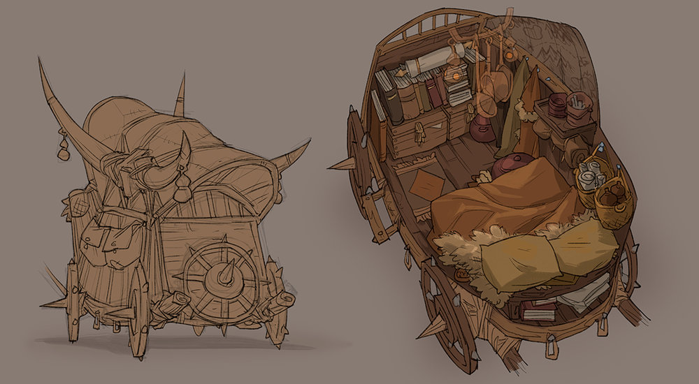 The cartographers' carriage
