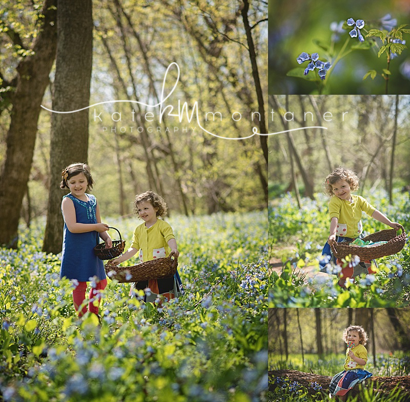 virginia-bluebells-Bull-Run-Childrens-Portaiture-Girls-in-field-of-flowers-with-baskets-Kate-Montaner-Photography-childrens-Photography