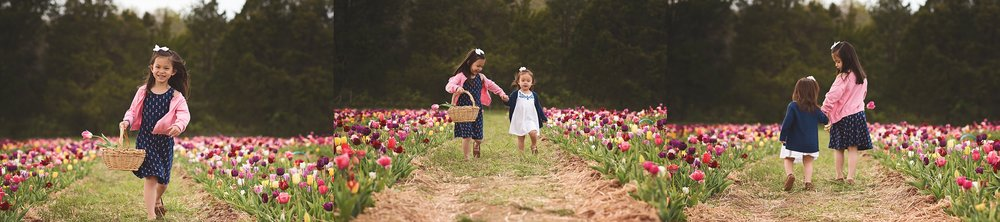 sisters-walking-in-tulip-session-kate-montaner-photography-family-portraits-northern-virginia