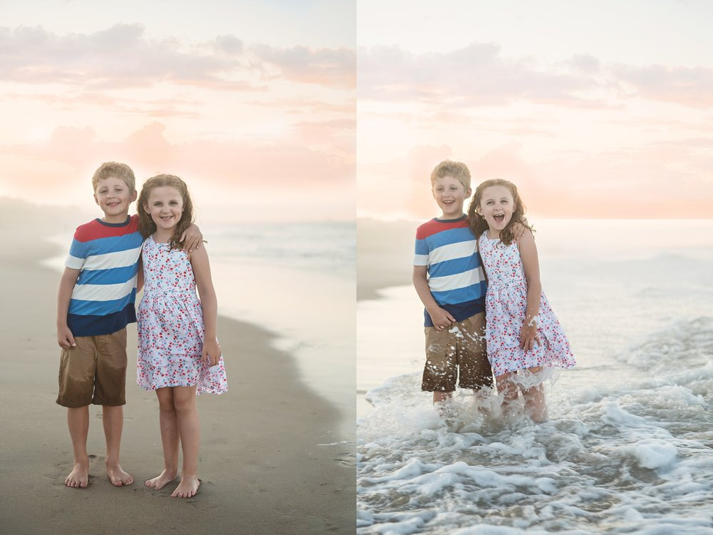 beach-family-photography-siblings-laughing-in-waves-outerbanks-kate-montaner-photography-loudoun-family-and-childrens-photographer