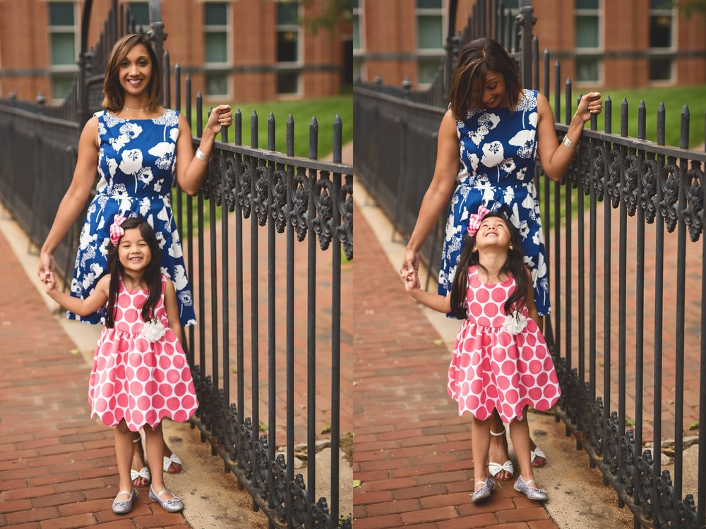 mother-daughter-iron-gate-and-pink-polka-dots-navy-photography-downtown-leesburg-kate-montaner-photography