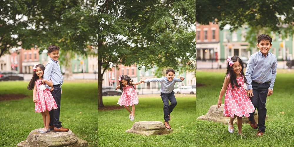 brother-and-sister-sibling-jumping-photography-downtown-leesburg-courthouse-park-leesburg-kate-montaner-photography