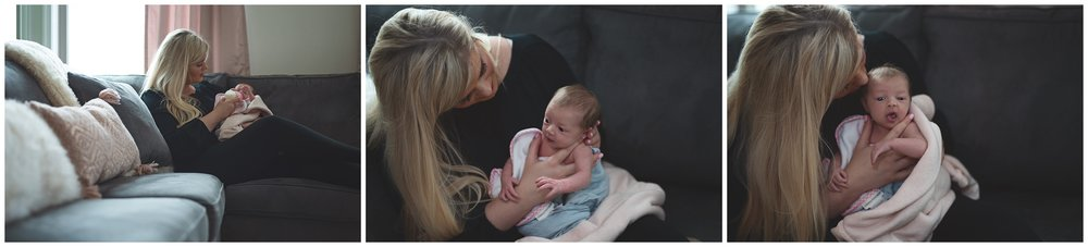 Mother and Newborn Daughter on couch bonding time Newborn Photography Kate Montaner Photograhy Ashburn Virginia (6).jpg