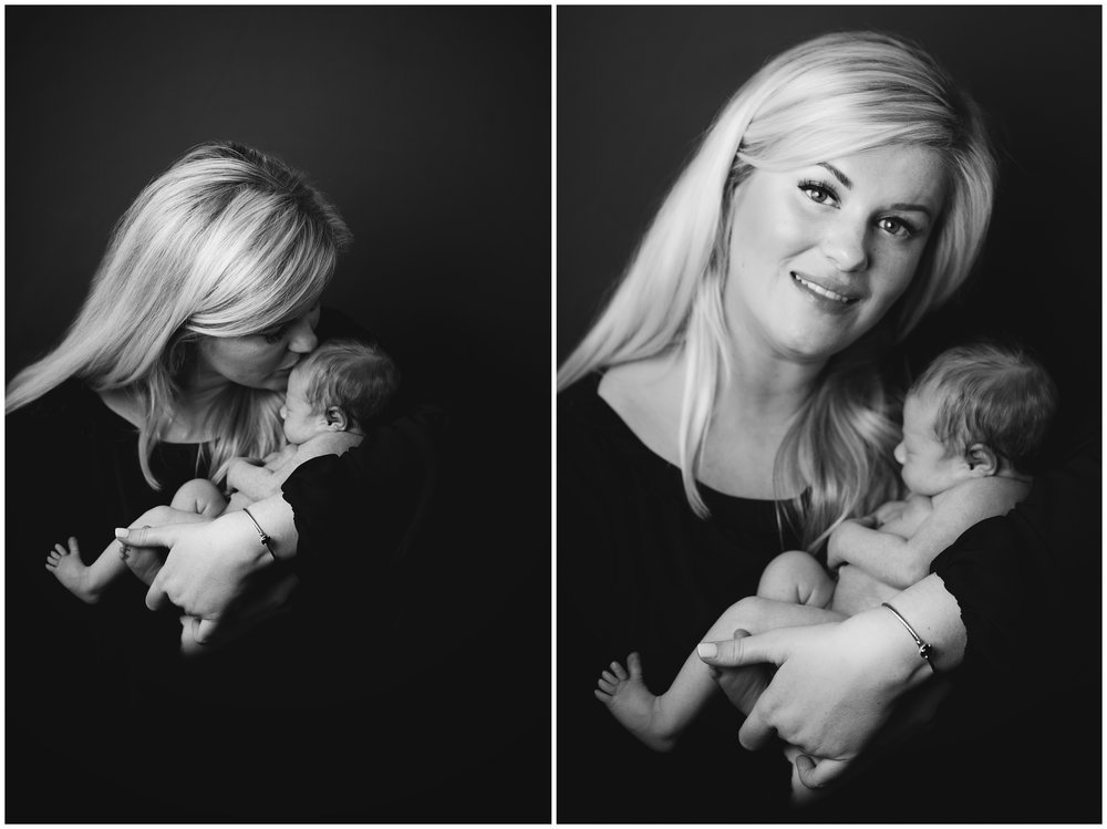 Mother and Daughter Black and White Newborn Photography Kate Montaner Photograhy Ashburn Virginia (2).jpg