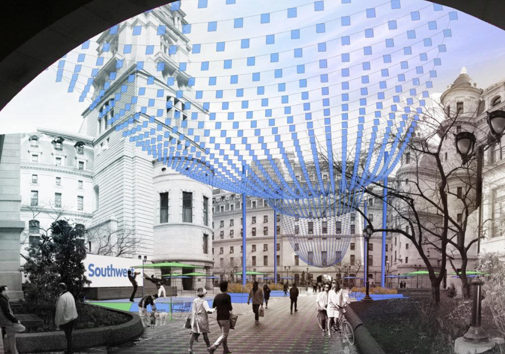 Courtyard Rendering (ShiftSpace, Digsau, Studio|Bryan Hanes)