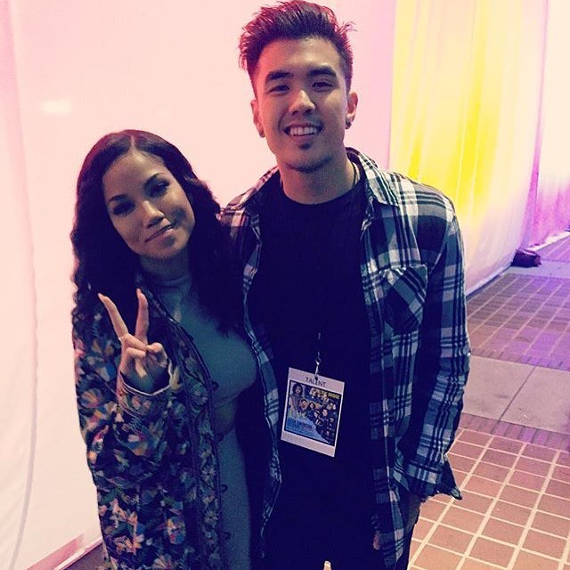 Our boy Joseph Vincent with Jhene Aiko for #apahm2016 at City Hall. Great job Joseph! #josephvincent #jheneaiko #lennonmgmt