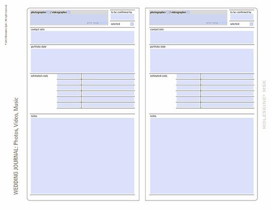 Moleskine Notebooks | FREE Wedding Planning Templates — MELISSA ...