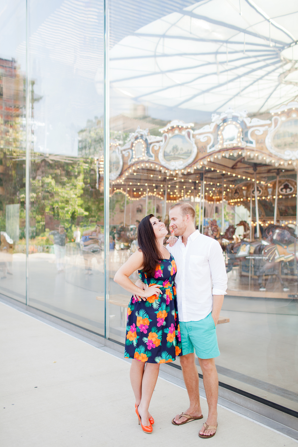 Melissa Kruse Photography - Sarah + Geoff DUMBO Brooklyn Bridge Park Jane's Carousel Engagement Photos-40.jpg