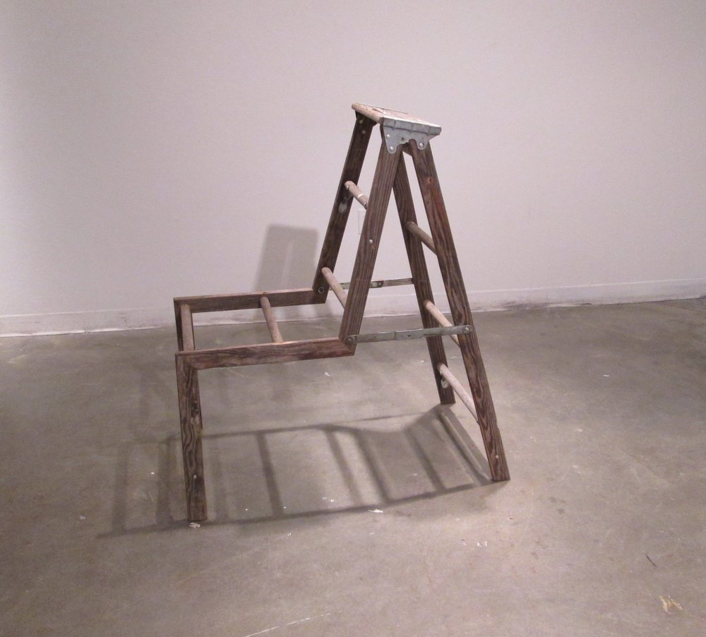 """Ladder Doing Chair Work"", Justin Coleman"