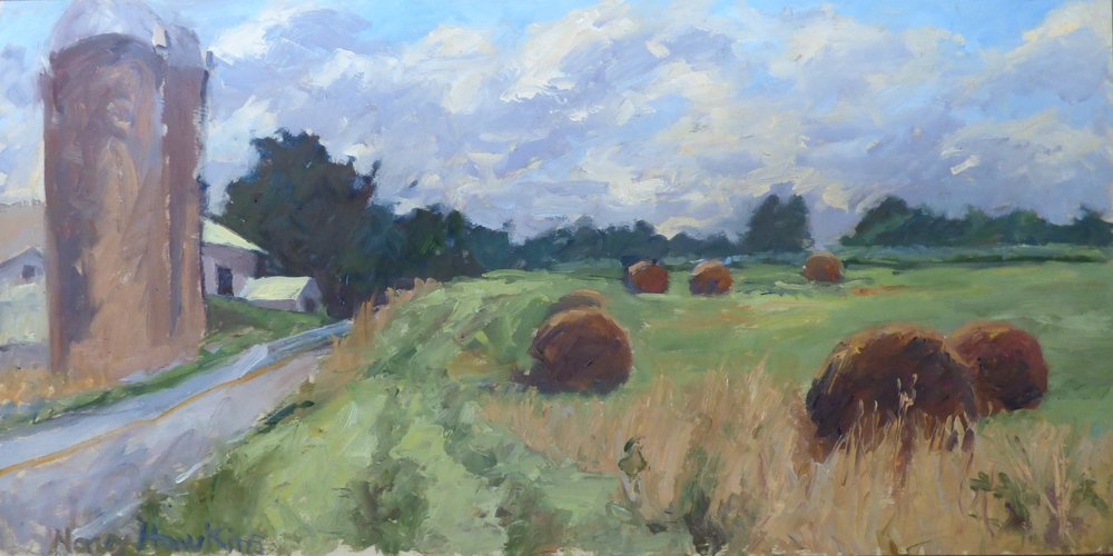 2nd Place, Pearle and Jerry's Farm, oil by Nancy Hawkins.jpg
