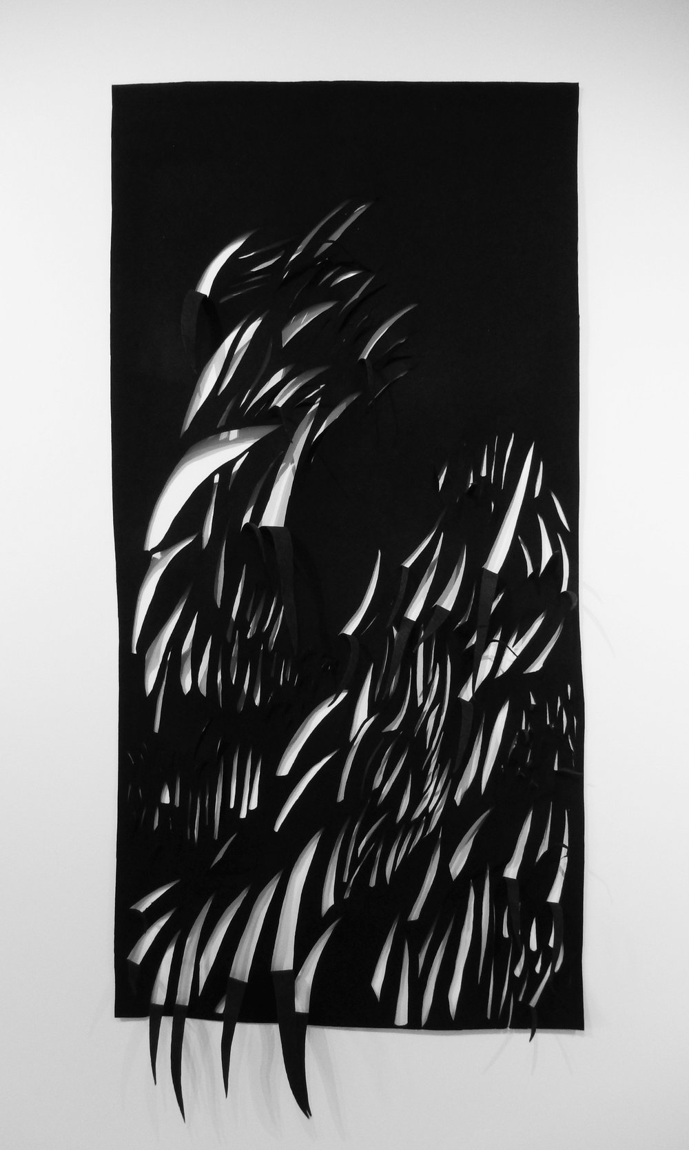 Grass 3, black industrial fabric by Barbara Westman